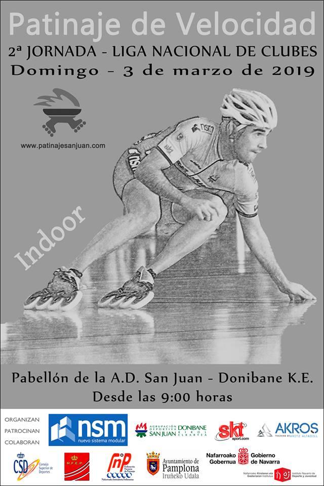 cartel segunda jornada liga nacional de clubes de patinaje de velocidad