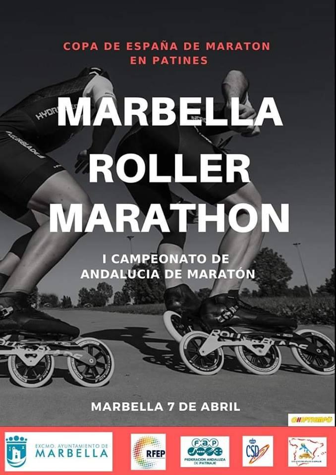 Copa de España de maraton Marbella roller maraton