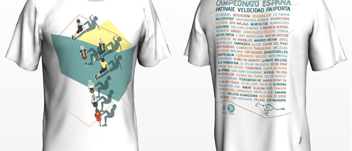 camiseta campeonato de España 2019 patinaje de velocidad