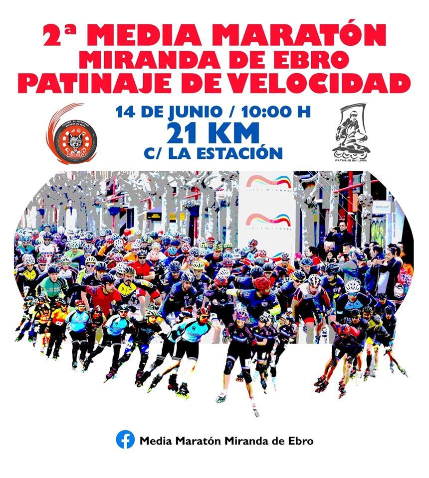 Maratón Miranda de Ebro patinaje de velocidad